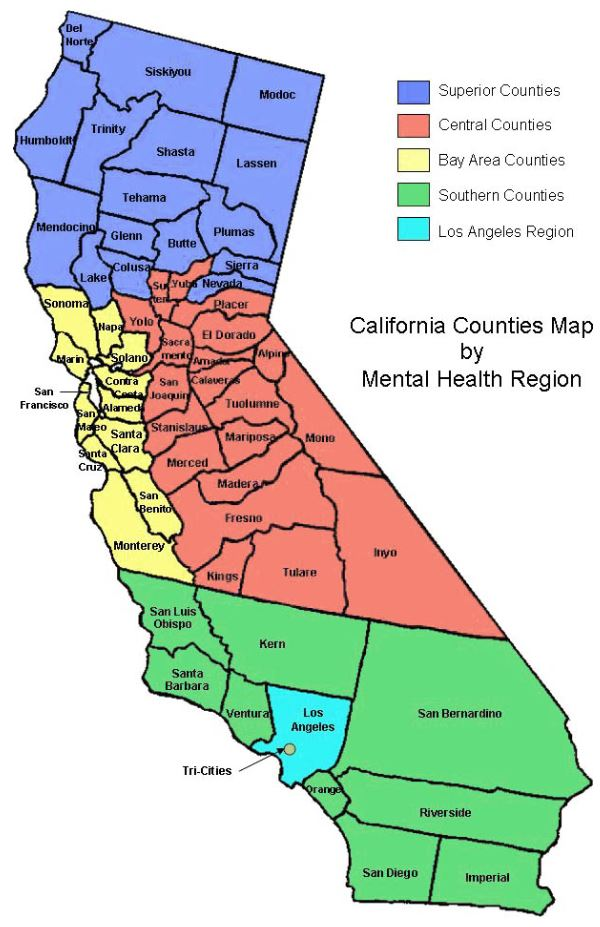 Region Map And Listing California Association Of Local Behavioral Health Boards Commissions California bay area map, map of california bay area. california association of local behavioral health boards commissions